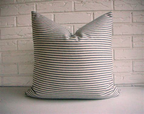 Ticking Stripe Pillow by Black Ticking Stripe Pillow Cover Cottage By Habitationboheme