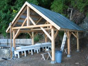 how to build a pole barn shed post and beam shed