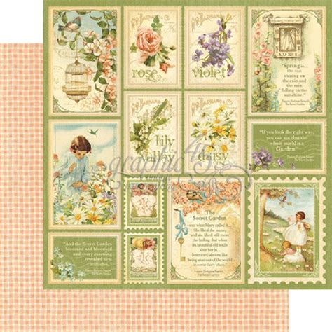 secret garden coloring book paper source graphic 45 springtime paper