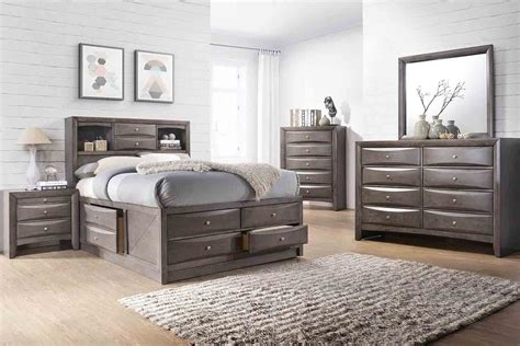 remi queen storage bed save mor    store