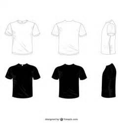 vectores camisetas blancas y negras descargar vectores