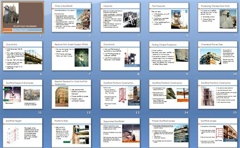 Safety Training Construction Template Store Scaffold Safety Program Template