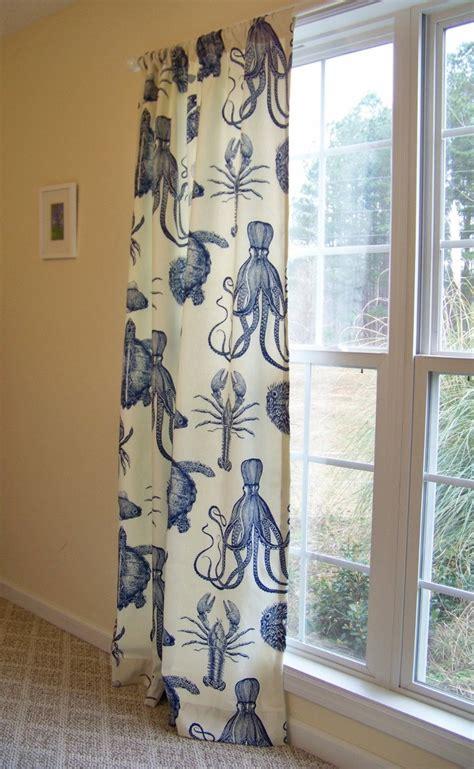 crab curtains custom curtain drape panel octopus sea life crab lobster