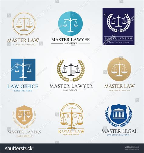 lawyer logo template office logo collection the judge firm logo