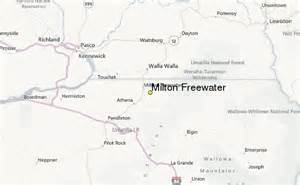 Milton Freewater Oregon Map by Milton Freewater Weather Station Record Historical