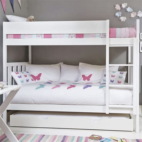 bunk beds for 4 modern kid s white bunk beds elites home decor