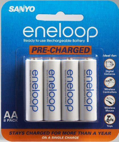 Baterai Rechargeable Sanyo sanyo eneloop aa nimh pre charged rechargeable batteries