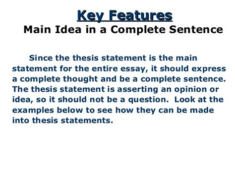 Developing A Thesis Statement For Argumentative Essay by Can Thesis Statement Question