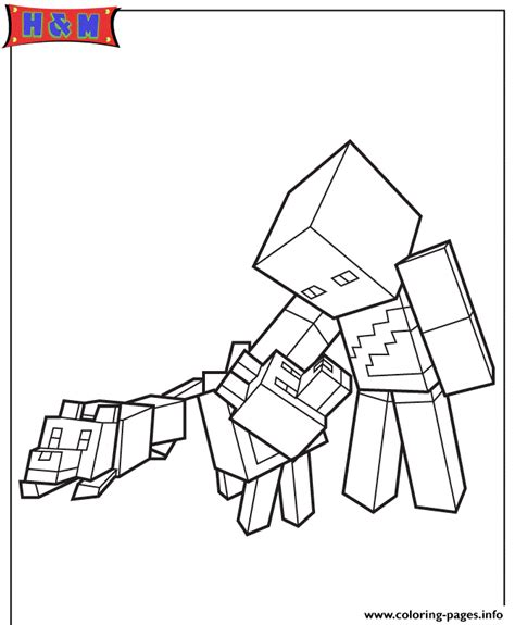 minecraft village coloring page minecraft character and wolves coloring pages printable