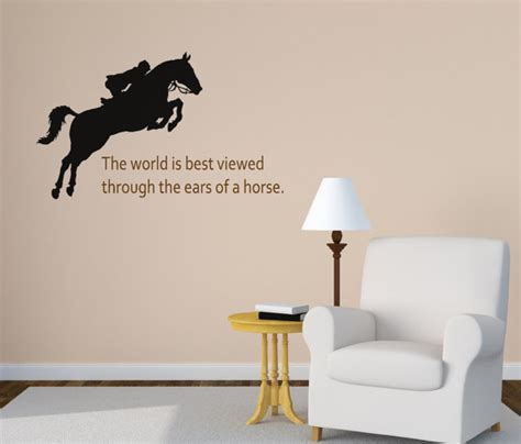 horse decal pony quote wall sticker teen girls room decal horse wall decal girls bedroom wall decal quote wall decal