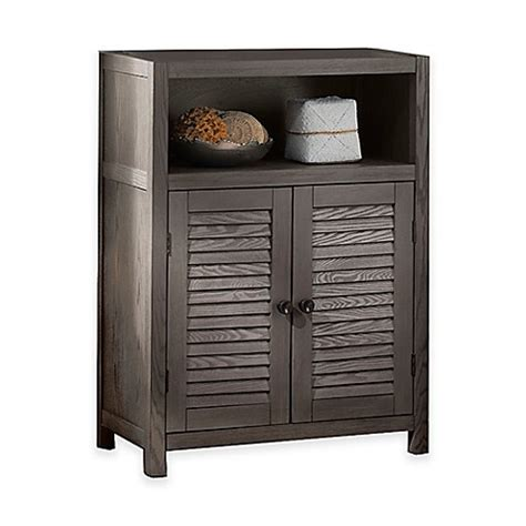 bed bath and beyond cabinet buy drift single shelf wood floor cabinet in grey from bed