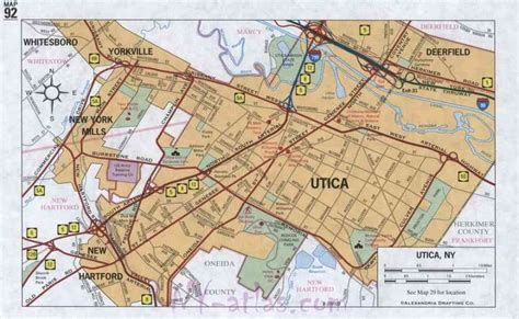 utica ny map of utica ny map travel holidaymapq