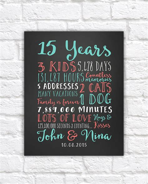 Wedding Anniversary Gift Paper by Wedding Anniversary Gifts Paper Canvas 15 Year Anniversary