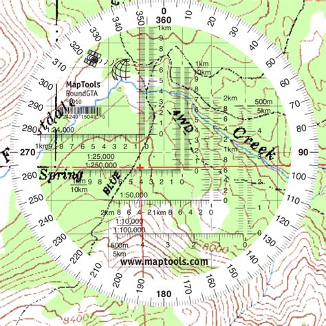 printable map protractor maptools product round military coordinate scale and