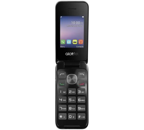 tel mobile buy sim free alcatel 2051x flip mobile phone silver at