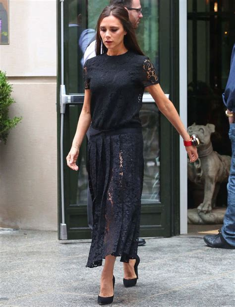victoria beckham flashes  flesh  sophisticated sheer