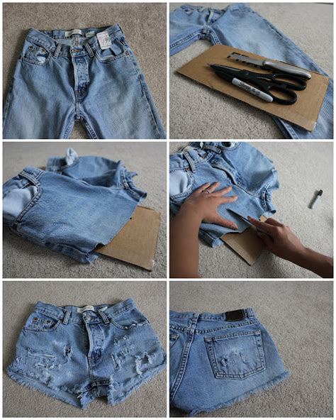 diy distressed shorts tutorial here s a and easy diy for summer i mentioned in my last post distressed jean shorts