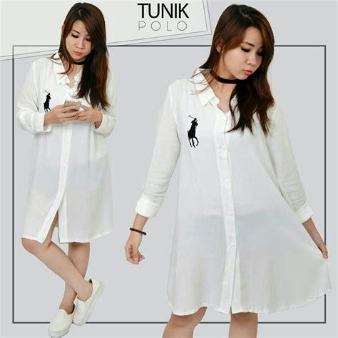 Omny Blouse Baju Atasan Tunic Kemeja Cewek Wanita Lengan Panjang model baju atasan tunik modis cantik terbaru dan murah