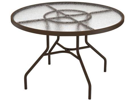 Tropitone Patio Table Tropitone Cast Aluminum 42 Dining Table With Umbrella 42w X 42d X 27h 646nau