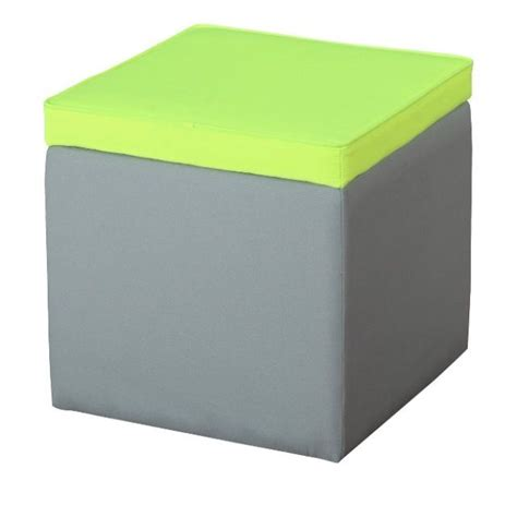 yellow and gray ottoman gray and neon yellow storage ottoman 34 house things