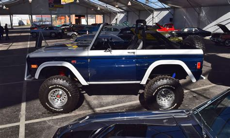 bronco car 2016 mecum 2016 1977 ford bronco sport 5 0 roadster in white blue