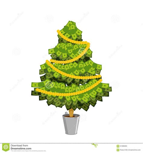 money tree christmas tree from dollar leaves from