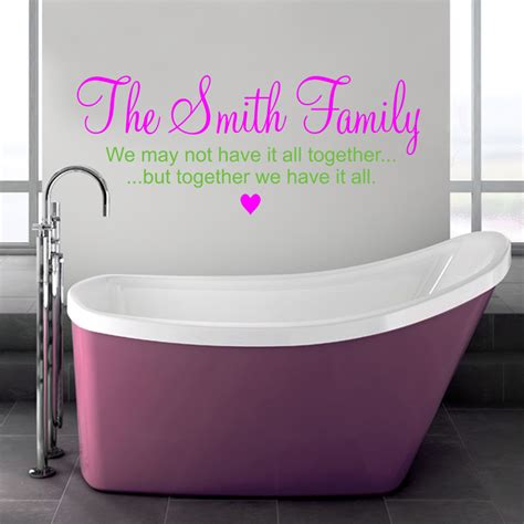 The named family 2 wall stickers amp decals