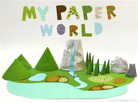How To Make A Paper World - my paper world mr printables