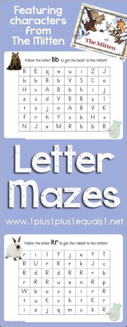 printable mitten maze the mitten letter mazes 1 1 1 1