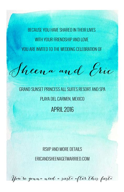 Destination wedding invitation wording Weddingbee