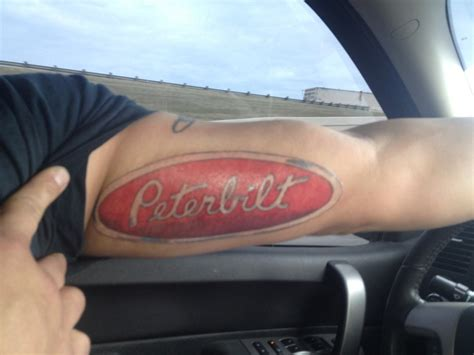 peterbilt tattoos peterbilt tatted uppp