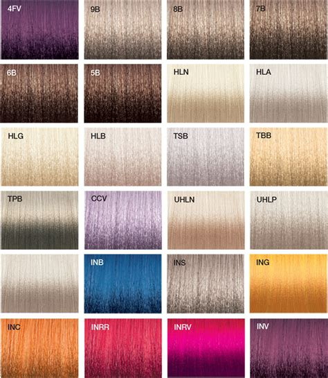hair color chart joico vero k pak chrome color swatches joico joicolor system