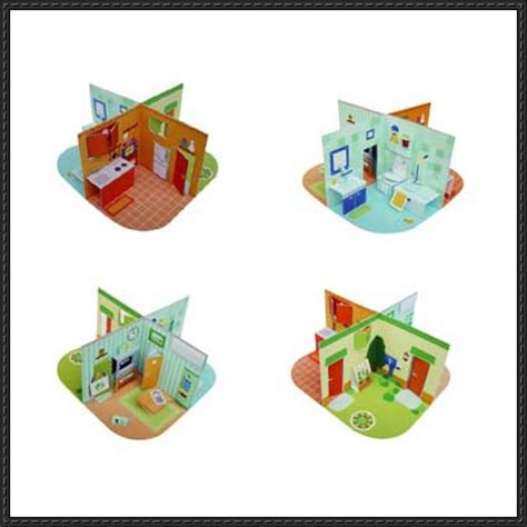 Pop Up Paper Crafts - pop up dollhouse free paper crafts