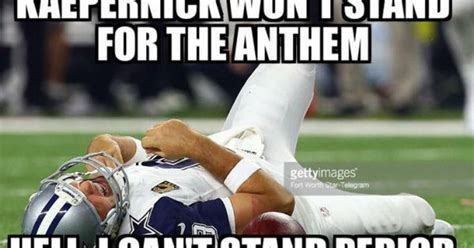 Sports Injury Meme - dallas cowboys tony romo injury memes the internet did