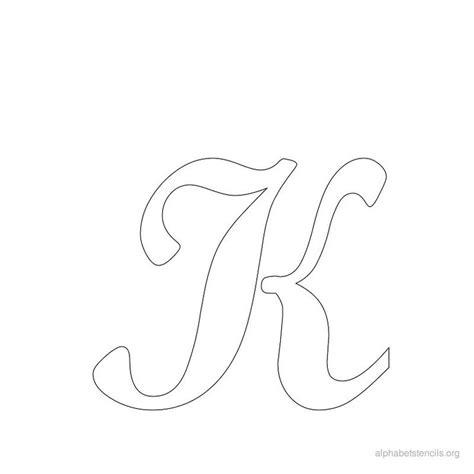 printable paper stencils print free alphabet stencils cursive k stencils
