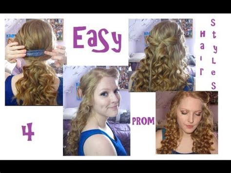 hairstyles you can do at home youtube 4 easy prom hairstyles youtube