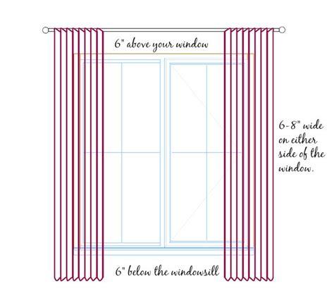 sill length curtains best 25 curtain length ideas on pinterest window