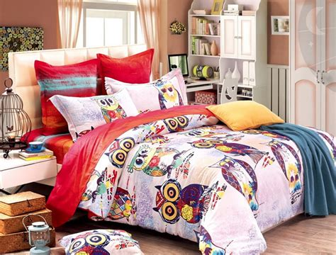 colorful mart super cute owl duvet cover set owl bedding set