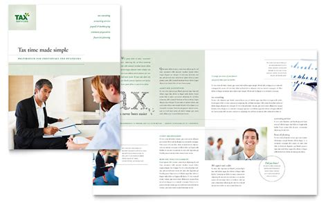 accounting flyer templates accounting tax services brochure template word publisher