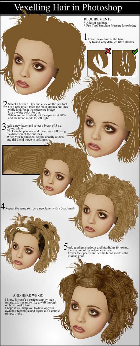 tutorial vector hair photoshop vexelling hair by vectortutorial on deviantart