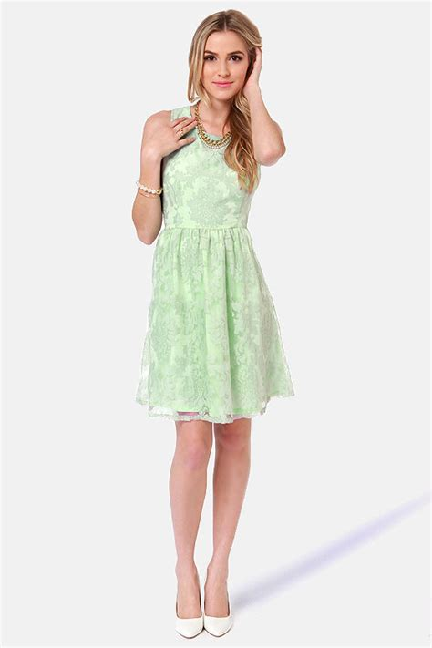 Nicely Dress X S M L mint green dress damask dress tea dress 53 00