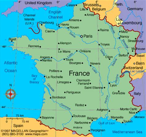 france latitude location 5 themes of geography france