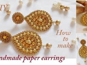 How To Make Earrings Out Of Paper - create cool wire and wooden bead earrings diy style