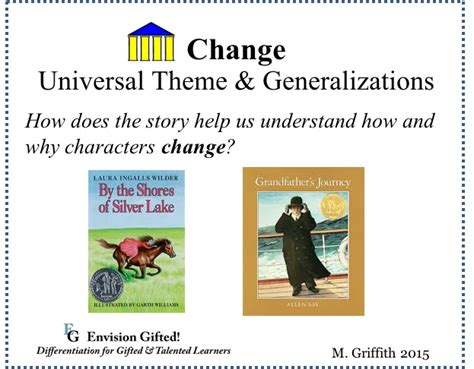 universal themes gifted education universal theme change envision gifted