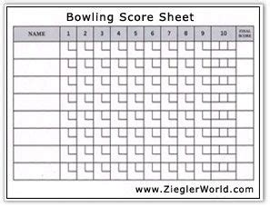 Bowls Score Cards Template by Free Printable Bowling Record Sheets Bowling Score By