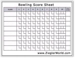 bowling score sheet template free printable bowling record sheets bowling score by