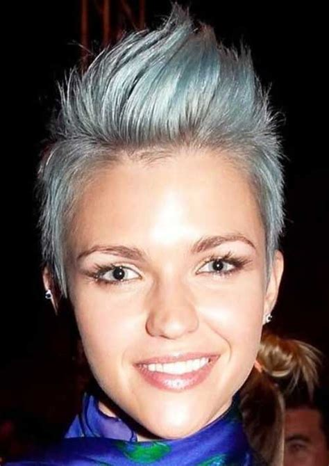 spiked salt pepper hair 12 glamorous grey hairstyle designs hairstyle for women