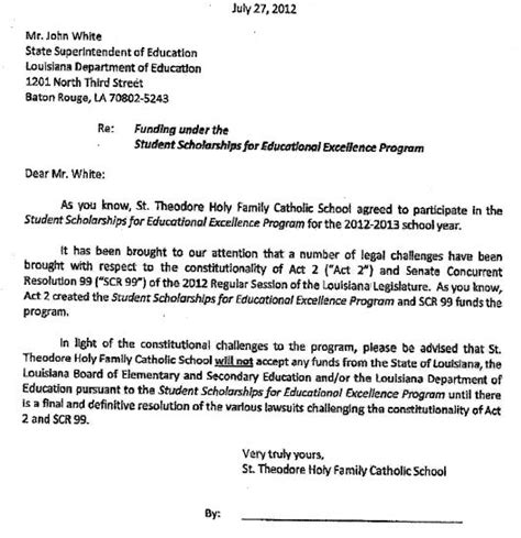 Transfer Letter School Louisiana Teachers Union Threatens Schools In State School Choice Program