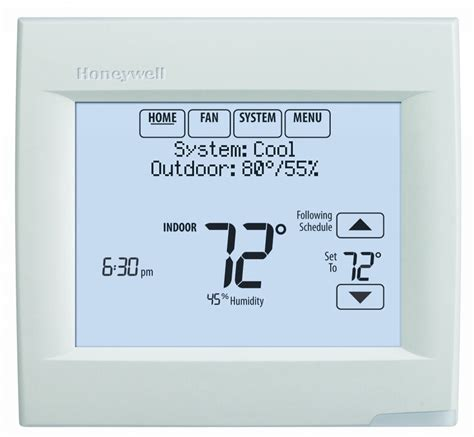 resetting wifi on honeywell thermostat visionpro wi fi programmable thermostat honeywell