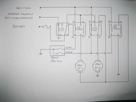 thermo fan wiring diagram elec fan wiring diagram dual